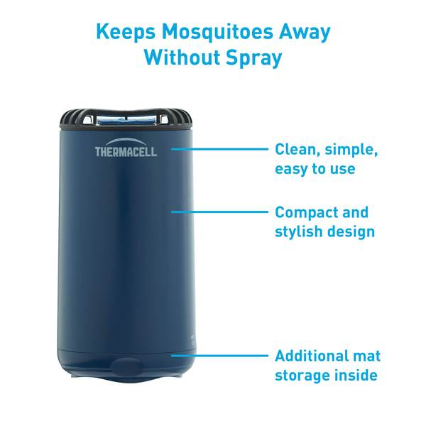 Mini Halo Table Top Repeller (Navy). Keeps Mosquitoes Away Without Spray